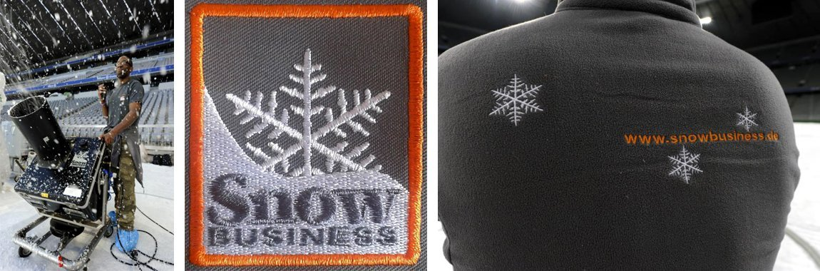 Snow Business - Stick auf Fleece Jacke